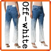 Off-White bleached baggy jeans