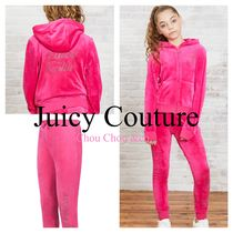 JUICY COUTURE(ジューシークチュール) 子供用パジャマ・ルームウェア・スリーパー Juicy Couture リュクス ベロア ディアマンテ セットアップ pink
