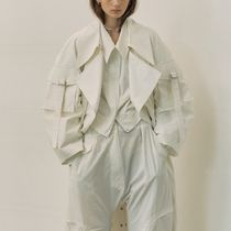 ★ LOW CLASSIC ★ 韓国人気 ★SLEEVE POCKET TRENCH COAT WHITE