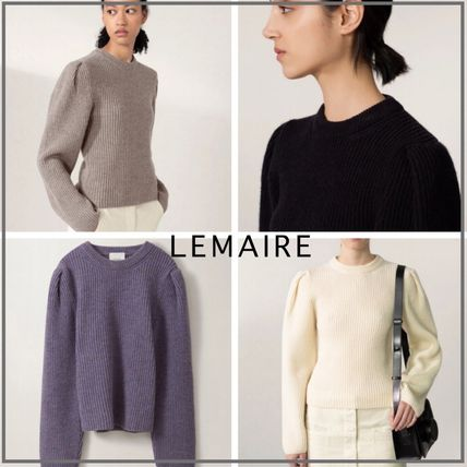 「LEMAIRE」PUFFY SLEEVES SWEATER パフスリーブウールセーター