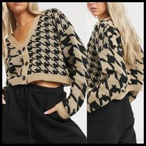 COLLUSION houndstooth cardigan co ord