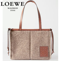 ∞∞ LOEWE ∞∞ Cushion small leather-trimmed felt トート☆