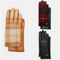SALE♪COACH Horse And Carriage Plaque Leather Tech Gloves