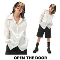 OPEN THE DOOR【限定販売】tidy glossy shirts(3 color)
