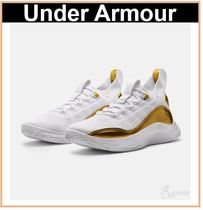 【Under Armour】Curry Flow 8 Basketball Shoes◆ gold white