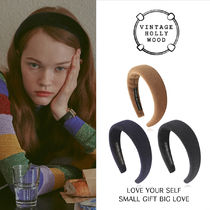 VINTAGE HOLLYWOOD★Carrie Wide Fur Hairband_3Colorヘアバンド