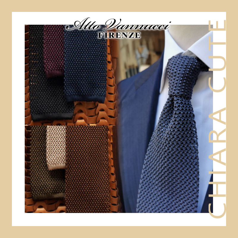 【20AW NEW】Atto Vannucci_men / シルクニットネクタイ /6色 (ネクタイ) 62816295