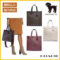 【COACH】Field Tote With Horse And CarriagePrint◆国内発送◆