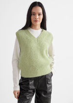 """""""& Other Stories""""新作☆Oversized Wool Knit Vest(green)"""