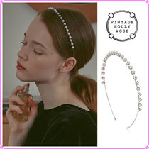 【VINTAGE HOLLYWOOD】Pearly Thin Hairband