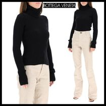 【BOTTEGA VENETA 】ボッテガ RIBBED HIGH NECK SWEATERセーター