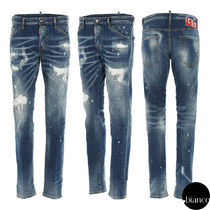 関税込DSQUARED2 Ripped White Spots Wash Cool Guy Jeans ロゴ