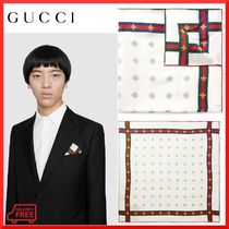 【GUCCI】ビーパターン シルク ポケットチーフ 関税・送料込み
