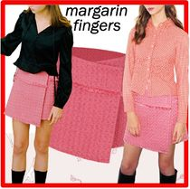 ☆韓国の人気☆【Margarin Fingers】☆Candy Tweed Skir.t☆