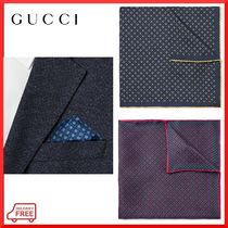 【GUCCI】GG&シャムロック シルク ポケットチーフ 関税・送料込
