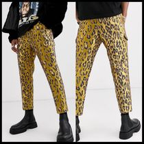 ASOS EDITION tapered smart trousers in leopard jacquard