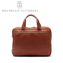 【Brunello Cucinelli】カーフスキンレザーバッグ メンズ