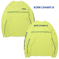 BORN CHAMPS★BC CMPS L/S TEE LIME T-シャツ LIME - CERAMTS01