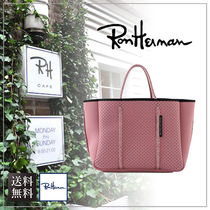 【送料無料】Ron Herman ロンハーマン Embossed Leather Tote L