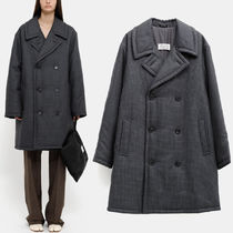 MMF155 CHECKED WOOL DOUBLE BREASTED COAT