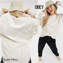 OBEY(オベイ) Tシャツ・カットソー Obey☆No justice No peace バックプリント ロンT♪【送料込】