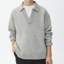 "ARKET(アーケット) ニット・セーター ""ARKET MEN"" Wool Polo Jumper LightGray"