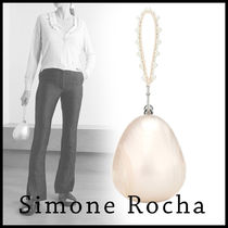 【関税/送料込】SIMONE ROCHA / Egg embellished clutch