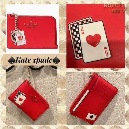 在庫即発kate spade★medium L-zipu card holder★トランプ柄