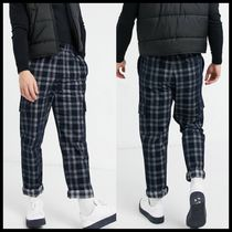 ASOS DESIGN skater fit trousers in brushed check