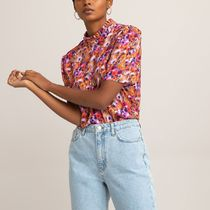 La Redoute Floral Print Blouse with High-Neck