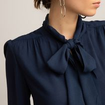 La Redoute Pussy Bow Blouse with Long Sleeves