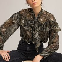 La Redoute Pussy Bow Shirt in Paisley Print