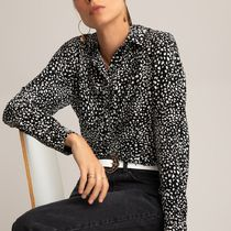 La Redoute Printed Regular Fit Shirt with Long Sleeves