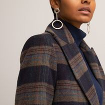 La Redoute Double-Breasted Checked Coat