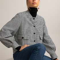 La Redoute Houndstooth Check Bomber Jacket