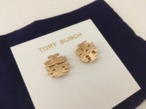 Tory Burch LARGE T LOGO STUD EARRING セール