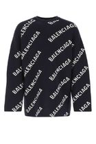 BALENCIAGA ♠Embroidered stretch wool blend sweater