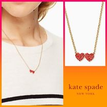 kate spade*yours truly pave heart mini pendant ネックレス