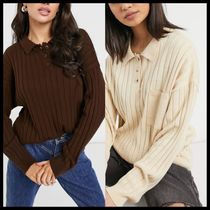 ASOS DESIGN oversized rugby style jumper