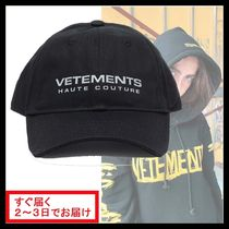 関税送料込み★VETEMENTS★LOGO COTTON BASEBALL CAP