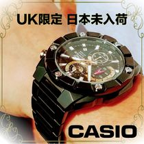 【CASIO UK限定】EDIFICE QUARTZ BLACK DIAL IP CHRONOGRAPH