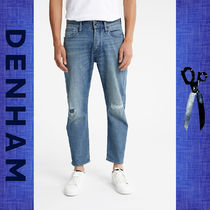 ◆DENHAM◆CROP RECYCLED DENIM - DROPPED-CROTCH, STRAIGHT FIT