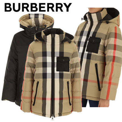 BURBERRY【関税込み*国内発】人気☆リバーシブル ダウン