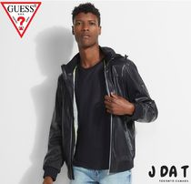 Guessゲス☆Faux-Leather Sport Bomber Jacketジャケット