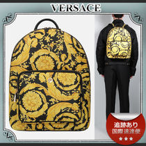 SALE!!送料込≪VERSACE≫ BAROCCO レザー バックパック