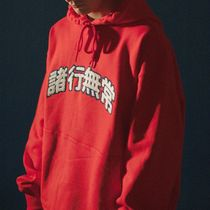 ★ YOUNGWALLJUNCTION ★韓国人気★ ANICCA COLLEGE HOODIE RED