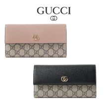 ∞∞ GUCCI ∞∞ GG Marmont Petite textured-leather 長財布☆