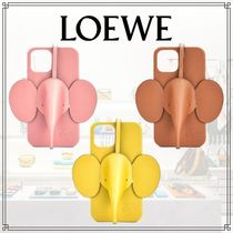 LOEWE◆直営 Elephant phone cover in calfskin for iPhone12Pro