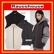 [Raucohouse]  COZY OVER ZIP-UP VEST /3色 / 兼用/追跡付