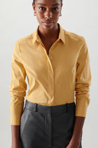 """COS"" 新作☆ORGANIC COTTON SLIM-FIT SHIRT(yellow)"